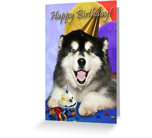 Birthday Malamute Greeting Card