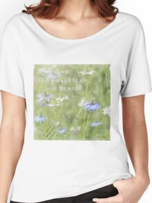 Be The Change - Nature Art Women's Relaxed Fit T-Shirt