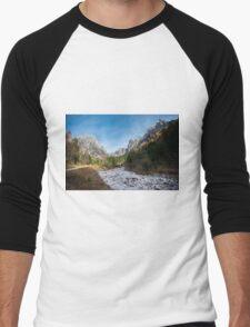 Mountains, Italy Men's Baseball ¾ T-Shirt