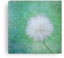 Inspirational Art - Some See A Wish Canvas Print