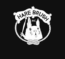Hare Brush Logo - White Unisex T-Shirt