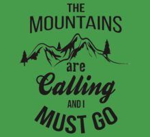 typograph Mountains are calling Baby Tee