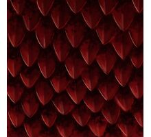 Red Dragon's Scales Photographic Print