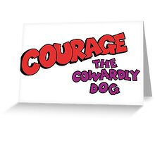 Courage the Cowardly Dog logo Greeting Card