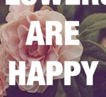 P.G. Wodehouse — Flowers Are Happy Things Sticker