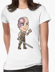 Baldur's Gate - Minsc the Ranger with Boo the Hamster Womens Fitted T-Shirt