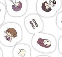 Studio Ghibli Falling Characters Sticker