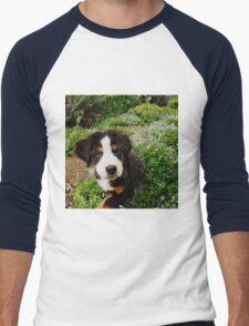 Puppy Art - Little Lily Men's Baseball ¾ T-Shirt