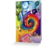 Colour wheel collage Greeting Card