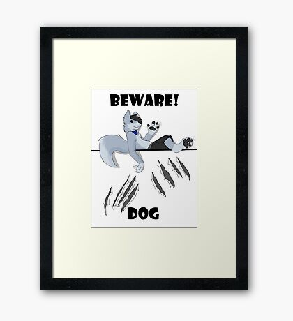 Beware dog claws and paws Framed Print