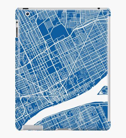 Detroit Map - Deep Blue iPad Case/Skin