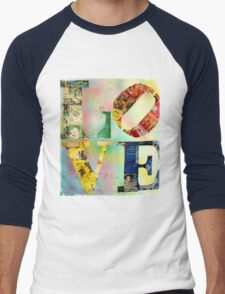 L O V E Men's Baseball ¾ T-Shirt