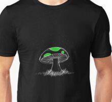 Bioluminescent Green Mushroom Unisex T-Shirt