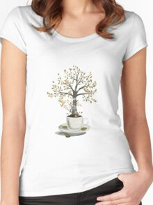 A Cup of Dreams Women's Fitted Scoop T-Shirt