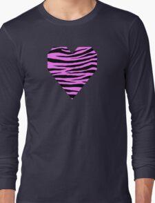 0279 Fuchsia Pink Tiger Long Sleeve T-Shirt