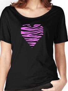 0279 Fuchsia Pink Tiger Women's Relaxed Fit T-Shirt