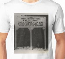 Elephant Buried here Unisex T-Shirt