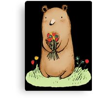 bear bouquet Canvas Print