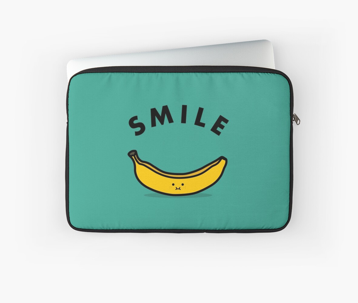 Quot Banana Quot Laptop Sleeves By Haasbroek Redbubble