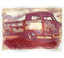 Vintage Transporter Poster