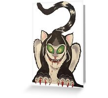 wicked cat  Greeting Card