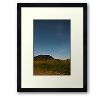 View of Mount Walker at night Framed Print