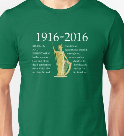 Irish 1916 Proclamation Centenary Unisex T-Shirt