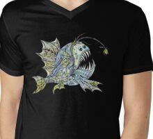 Creative Anglerfish Illustration Mens V-Neck T-Shirt