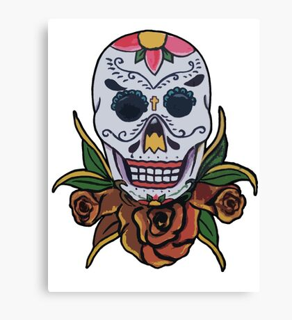 day of the dead face Canvas Print