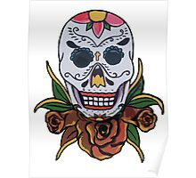 day of the dead face Poster