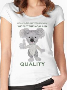 We Put the Koala in Quality Women's Fitted Scoop T-Shirt