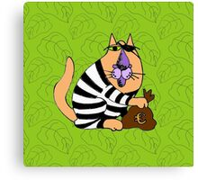 Crime cat Canvas Print