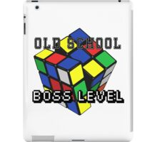 Old School, Boss Level iPad Case/Skin