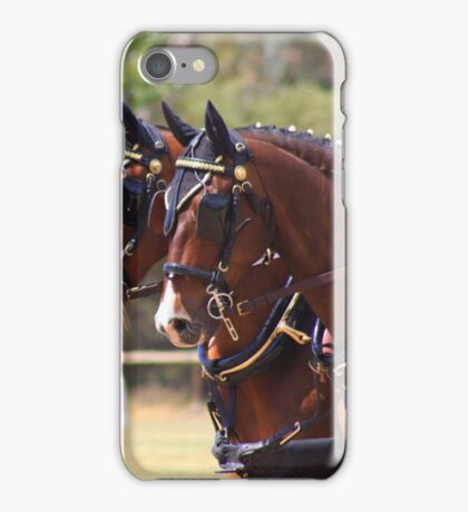 Carriage horses iPhone Case/Skin