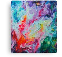 Elements - Spectrum Abstraction Canvas Print