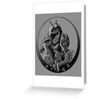 My Little Pony Princesses Grayscale Greeting Card