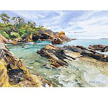 Original Painting: Mystery Bay, NSW, Australia Photographic Print