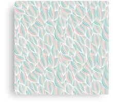 Colorful Ocean Waves Pattern Canvas Print