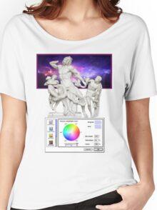 Galaxy Greeks Vaporwave Aesthetics Women's Relaxed Fit T-Shirt