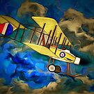 "A Royal Flying Corps Vickers ""Gunbus"" 1914 by Dennis Melling"