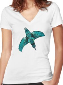 steampunk towers Women's Fitted V-Neck T-Shirt