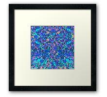 Blue Hip Hop Blob Splash Psychedelic Pattern  Framed Print