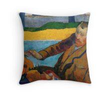 1888 - Gauguin -  Vincent van Gogh painting sunflowers Throw Pillow