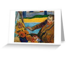 1888 - Gauguin -  Vincent van Gogh painting sunflowers Greeting Card