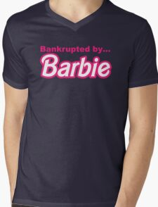 Bankrupted by... BARBIE Mens V-Neck T-Shirt