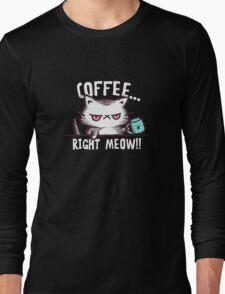 coffee cat Long Sleeve T-Shirt