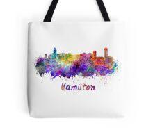 Hamilton skyline in watercolor Tote Bag