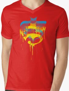 FACE OFF 3D Mens V-Neck T-Shirt