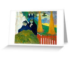 1888 - Gauguin - Arlésiennes (Mistral) Greeting Card