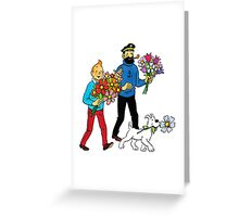Tintin Haddock Snowy Greeting Card